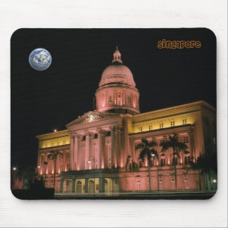 Singapore night lights mouse pad