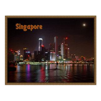 Singapore night postcard