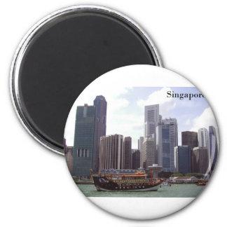 Singapore Port (by St.K) Magnet