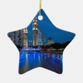 Singapore River Cruise Christmas Ornament