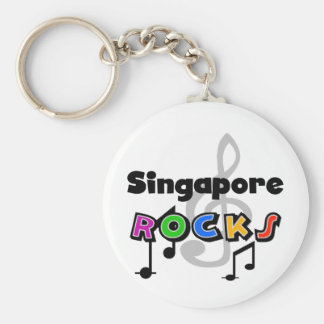 Singapore Rocks Key Ring