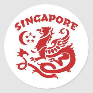 Singapore Round Sticker