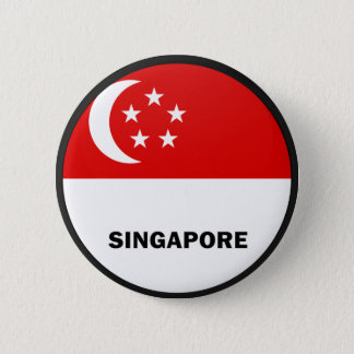 Singapore Roundel quality Flag 6 Cm Round Badge
