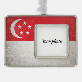 Singapore Silver Plated Framed Ornament