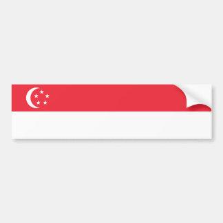 Singapore/Singaporean Flag Bumper Sticker