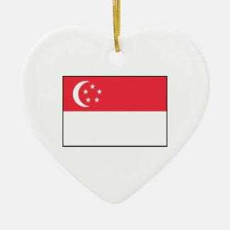 Singapore – Singaporean Flag Christmas Ornaments