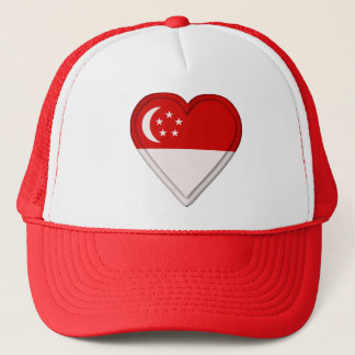 Singapore Singaporean flag Trucker Hat