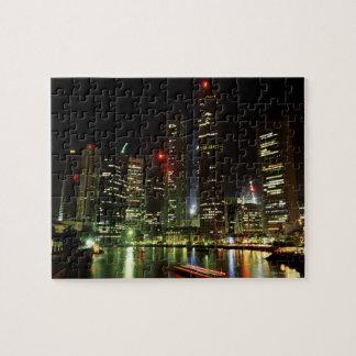 Singapore skyline at night jigsaw puzzle