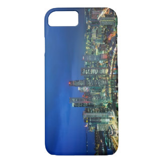Singapore Skyline at night, Singapore iPhone 7 Case