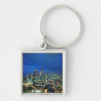 Singapore Skyline at night, Singapore Key Ring
