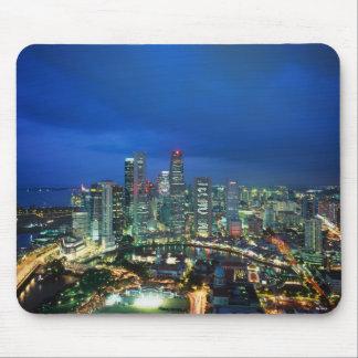 Singapore Skyline at night, Singapore Mouse Pad