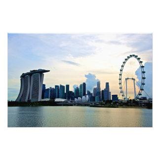 Singapore Skyline by Daylight Photo