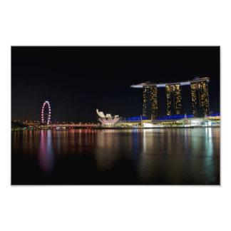 Singapore Skyline by Night Photographic Print