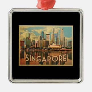 Singapore Skyline Christmas Ornament