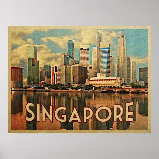 Singapore Skyline Posters