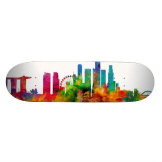 Singapore Skyline Skateboard