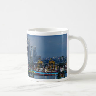 Singapore skyline with Tanjong Container Port, Sin Coffee Mug