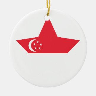 Singapore Star Christmas Ornament