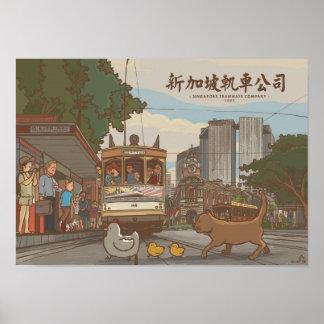 Singapore Tramways Company | Singapura Images Poster