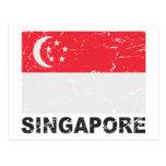 Singapore Vintage Flag Postcards