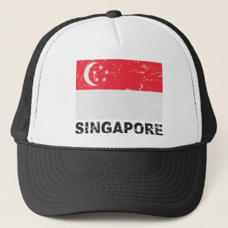 Singapore Vintage Flag Trucker Hat