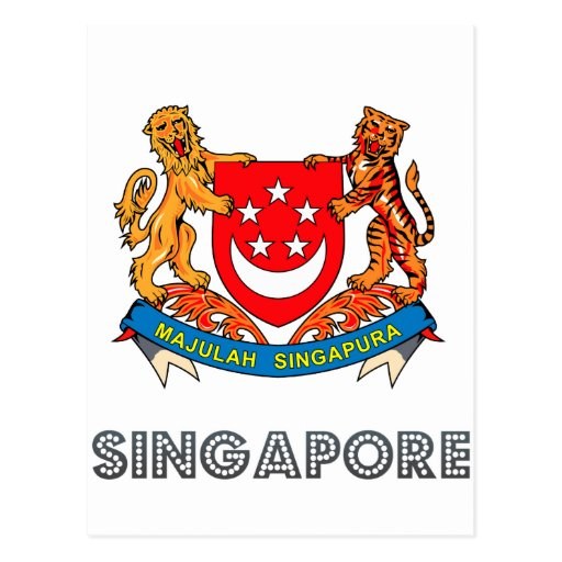 Singaporean Emblem Post Cards