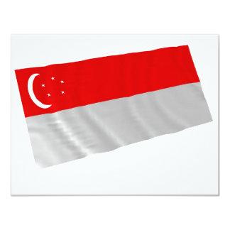 singapour 11 cm x 14 cm invitation card