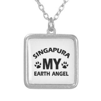 SINGAPURA CAT SQUARE PENDANT NECKLACE