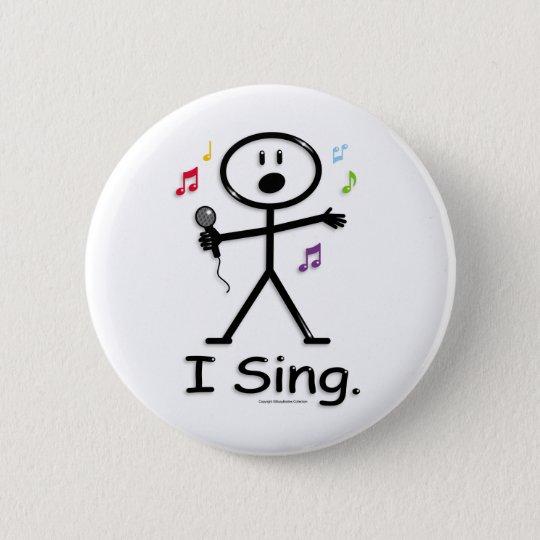 Singer 6 Cm Round Badge