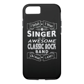 SINGER awesome classic rock band (wht) iPhone 8/7 Case