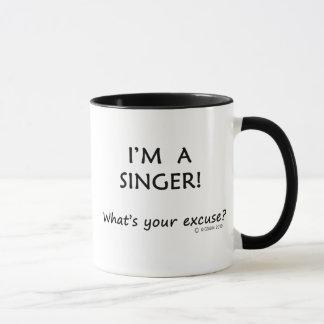 Singer Excuse Mug