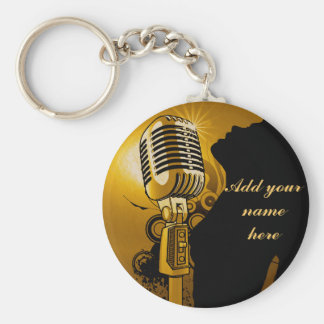 Singer I Am,Gold_ Key Ring