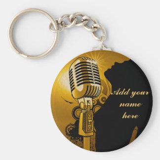 Singer I Am,Gold_ Keychains