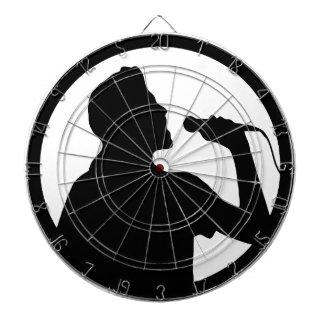 Singer Icon - Karaoke Logo Dartboard