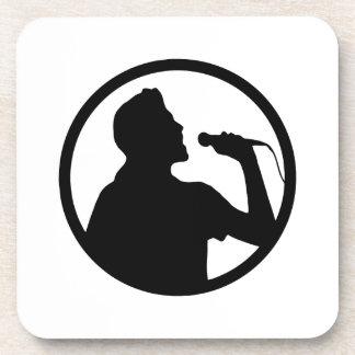 Singer Icon - Karaoke Logo Drink Coaster