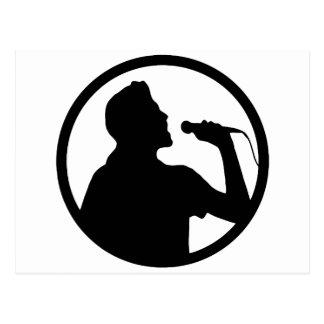 Singer Icon - Karaoke Logo Post Cards