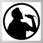 Singer Icon - Karaoke Logo Poster