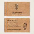 Singer Microphone Texture Effect Business Cards