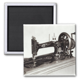 Singer 'New Family' sewing machine, 1865 Square Magnet
