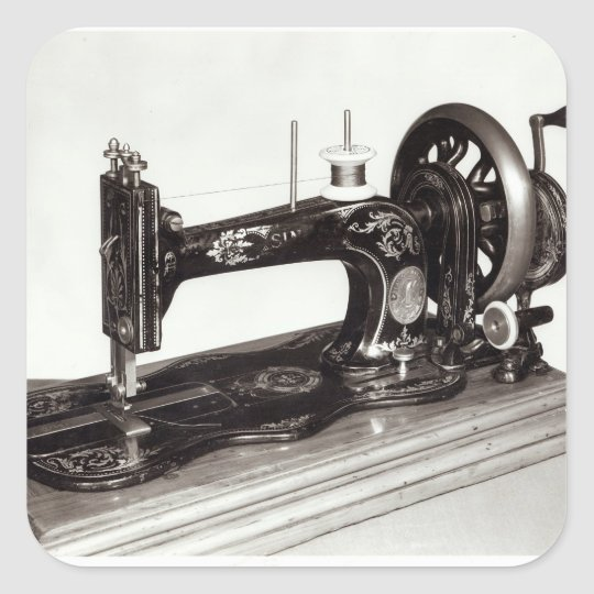 Singer 'New Family' sewing machine, 1865 Square Sticker