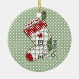 Singer Photo Stocking ornament with funny video