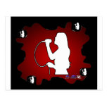 SINGER RED BACKGROUND PRODUCTS POSTCARDS