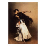 Singer Sargent Spanish Dancer Poster