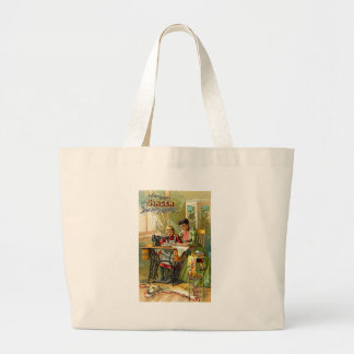"""Singer Sewing Machine """"The First Lesson"""" Vintage Bags"""