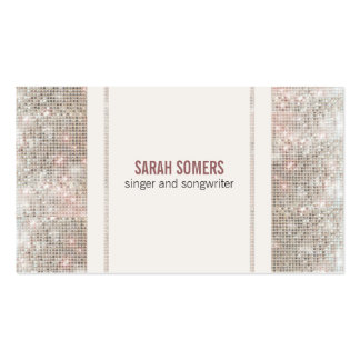 Singer Songwriter Sequins Look Pack Of Standard Business Cards