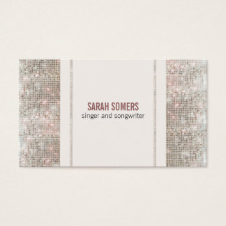Singer Songwriter Sequins Look Business Card