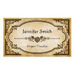 Singer / Vocalist - Elegant Vintage Antique Pack Of Standard Business Cards