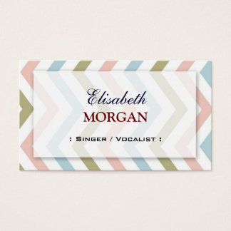 Singer / Vocalist - Natural Graceful Chevron Business Card
