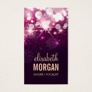 Singer / Vocalist - Pink Glitter Sparkles Business Card