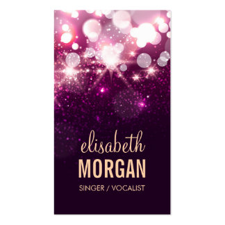 Singer / Vocalist - Pink Glitter Sparkles Pack Of Standard Business Cards